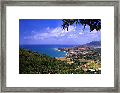 Puerto Rico Sea View Framed Print by Thomas R Fletcher