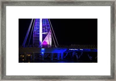 Puerto Vallarta Pier Framed Print by Aged Pixel