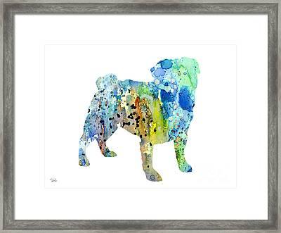 Pug Framed Print by Luke and Slavi