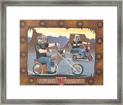 Pug Ugly M.c. Framed Print by Stuart Swartz