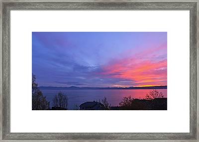 Puget Sound Framed Print by LaTasha Bjorkman