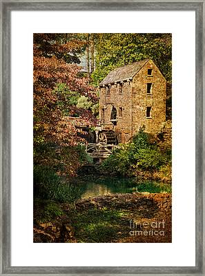 Pugh's Old Mill Framed Print by Priscilla Burgers