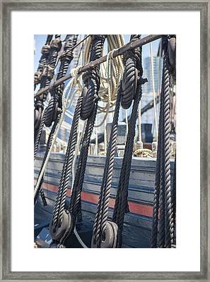 Pulley And Stay Framed Print by Scott Campbell