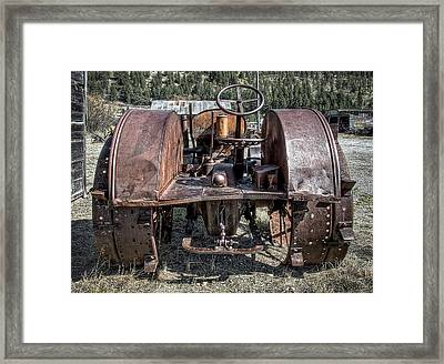 Pulling End Of Mccormick-deering Tractor Framed Print by Daniel Hagerman