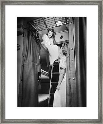 Pullman Coach Sleeper Car Framed Print by Frank Willming