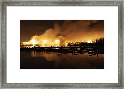 Pulp And Paper Mill In Finland Framed Print by Mountain Dreams