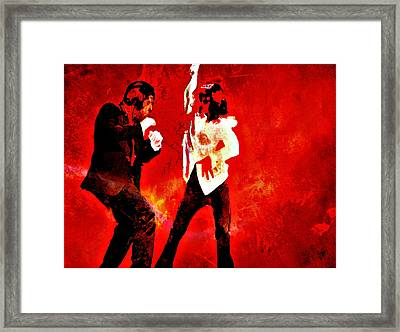 Pulp Fiction Dance 2 Framed Print by Brian Reaves