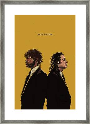 Pulp Fiction Framed Print by Jeremy Scott