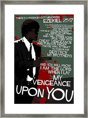 Pulp Fiction Movie-quote-with-a-gun Framed Print by Edgar Ascensao