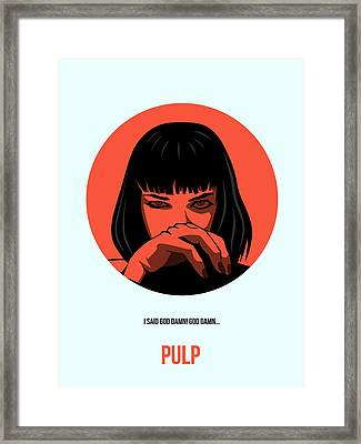 Pulp Fiction Poster 4 Framed Print by Naxart Studio