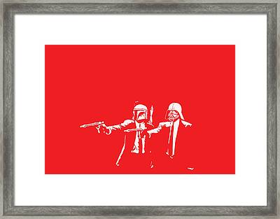 Pulp Wars Framed Print by Patrick Charbonneau