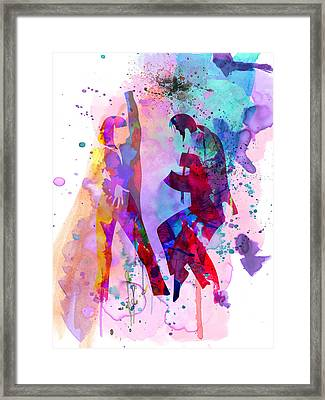 Pulp Watercolor Framed Print by Naxart Studio