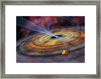 Pulsar Planetary Disc, Artwork Framed Print by Science Photo Library