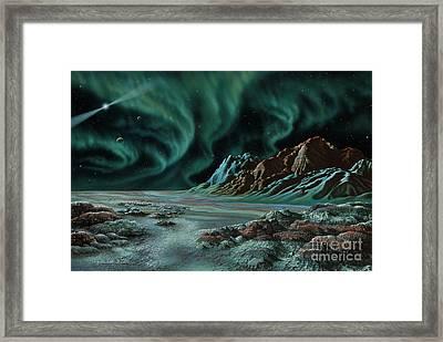 Pulsar Planets I Framed Print by Lynette Cook