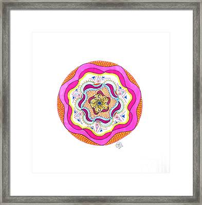Pulsing Waves Framed Print by Signe  Beatrice