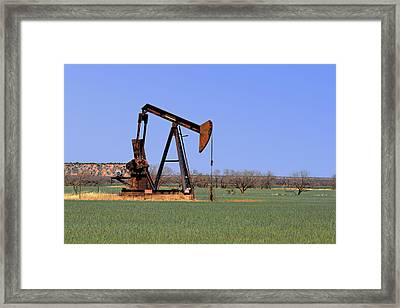 Pump Jack A Texas Icon Framed Print by Christine Till