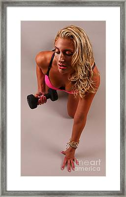 Pumping Iron Framed Print by Lee Dos Santos