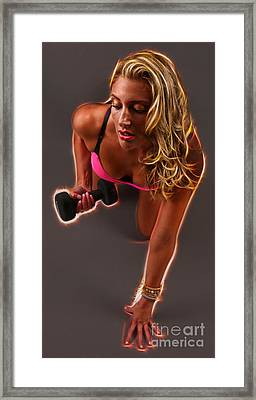 Pumping Iron On Fire Framed Print by Lee Dos Santos