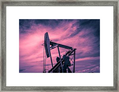 Pumpjack 11 Framed Print by Chad Rowe