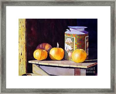 Pumpkiins At Collier Farm Framed Print by Robert Hooper