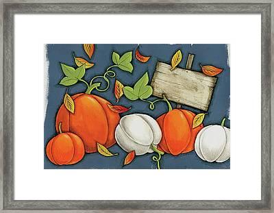 Pumpkin Patch Framed Print by Anne Tavoletti