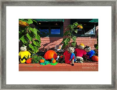 Pumpkin People Framed Print by Catherine Reusch  Daley