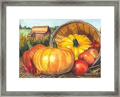 Pumpkin Pickin Framed Print by Carol Wisniewski