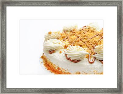 Pumpkin Spice Drizzle Cake 2 Framed Print by Andee Design