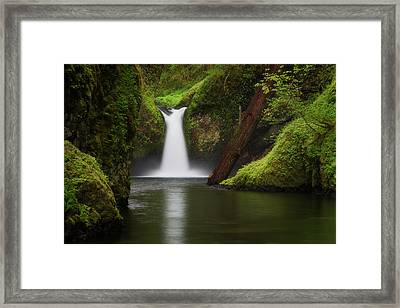 Punchbowl Falls, Columbia River Gorge Framed Print by Robert Postma