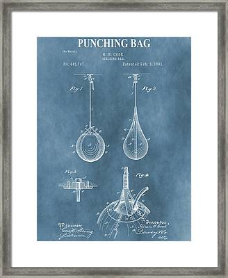 Punching Bag Patent Framed Print by Dan Sproul