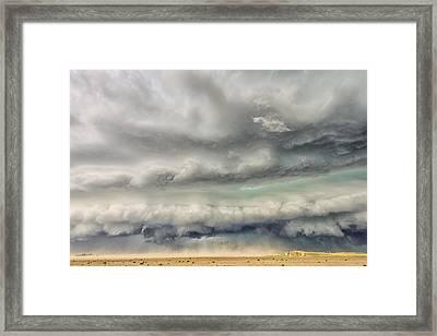 Punishing The Plains Of Colorado Framed Print by Shane Linke