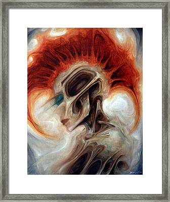 Punk Rock Zombie Girl Framed Print by Robert Anderson