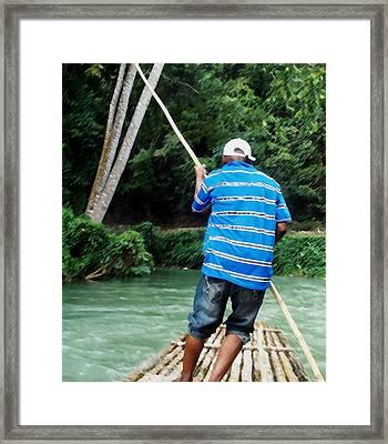 Punter At Work Framed Print by Stuart Wilson