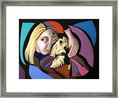 Puppy Love Framed Print by Anthony Falbo