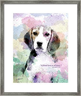 Puppy Love Framed Print by Gary Bodnar