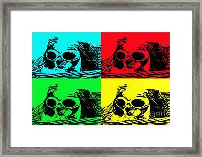 Puppy Mania Pop Art Framed Print by Ella Kaye Dickey