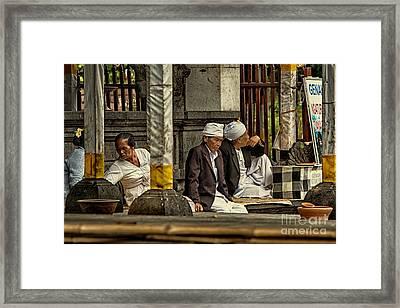 Pura Besakih Temple Framed Print by Joerg Lingnau