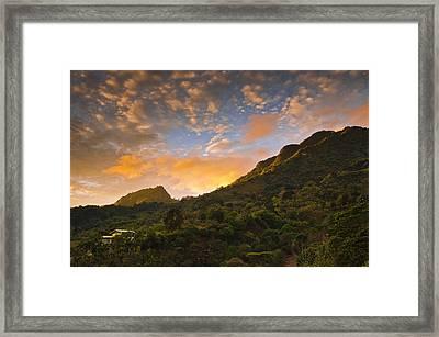 Pura Vida Costa Rica Framed Print by Aaron S Bedell