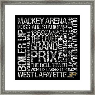 Purdue College Colors Subway Art Framed Print by Replay Photos