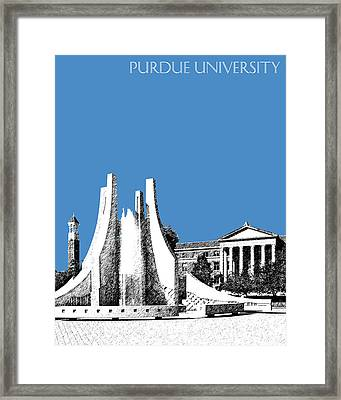 Purdue University 2 - Engineering Fountain - Slate Framed Print by DB Artist