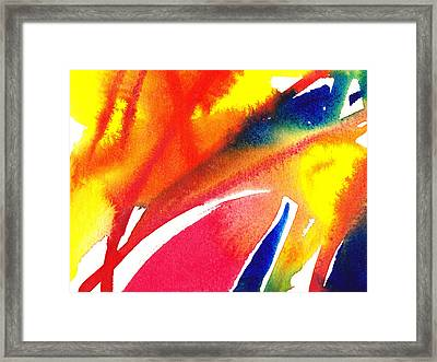Pure Color Inspiration Abstract Painting Enchanted Crossing Framed Print by Irina Sztukowski