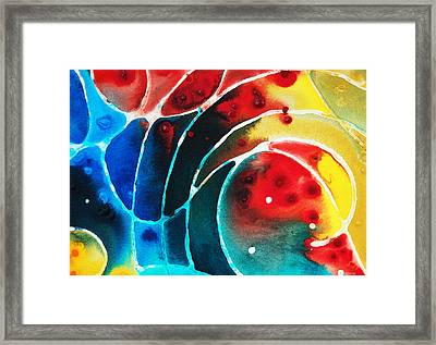 Pure Joy 2 - Abstract Art By Sharon Cummings Framed Print by Sharon Cummings