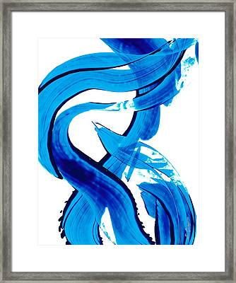 Pure Water 302 - Blue Abstract Art By Sharon Cummings Framed Print by Sharon Cummings