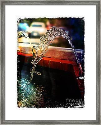 Pure Water Flow Framed Print by Absinthe Art By Michelle LeAnn Scott