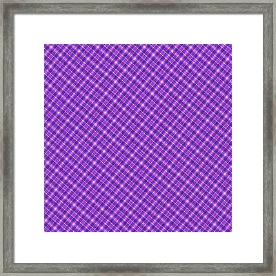 Purple And Pink Diagonal Plaid Pattern Cloth Background Framed Print by Keith Webber Jr