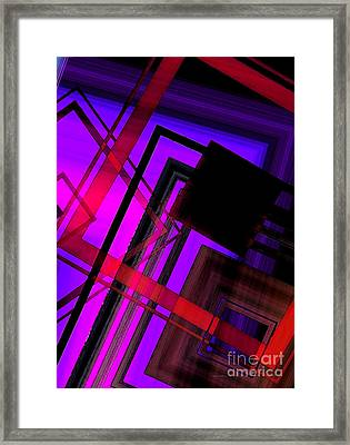 Purple And Red Art Framed Print by Mario Perez