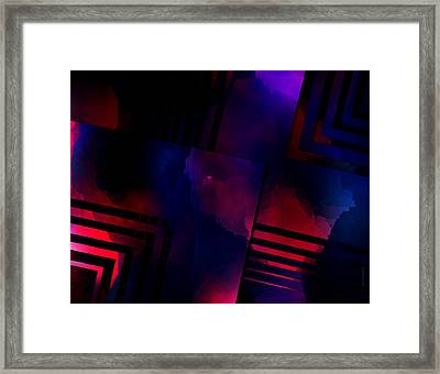Purple And Red Smoke Framed Print by Mario Perez