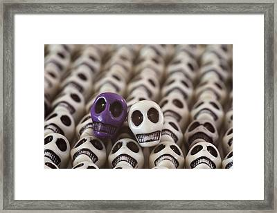 Purple And White Framed Print by Mike Herdering