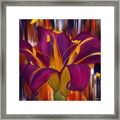 Purple Blast Framed Print by Lourry Legarde