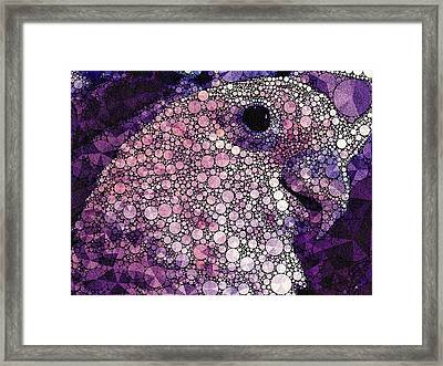 Purple Cockatoo Framed Print by Susan Maxwell Schmidt
